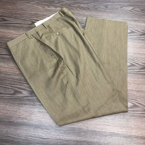 Canali Solid Taupe Tan Dress Pants 40x33